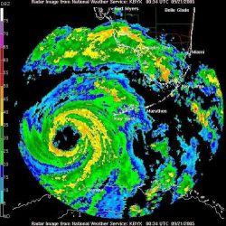 Hurricane Rita as seen from Key West radar. Photo