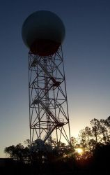 NWS Radar Tower & Radome Photo