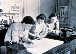 Plotting upper-air maps Women's first opportunities in meteorology occurred as a result of WWII Photo