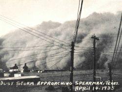 A dust storm approaching Spearman Photo