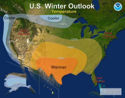Winter weather temperature outlook for the 2010-2011 winter Photo