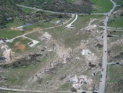 EF4 damage along Cherokee Valley Road northeast of Ringgold Photo