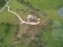 Damage to home on Old Cedartown Road just south of Lindale (Floyd County) Photo