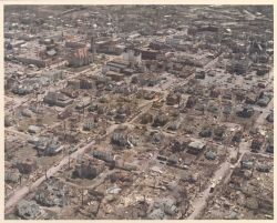 Xenia city center tornado damage from Super Tornado Outbreak of April 3, 1974. Photo