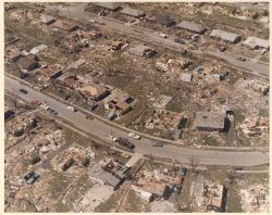 Northeast Xenia tornado damage from Super Tornado Outbreak of April 3, 1974. Photo