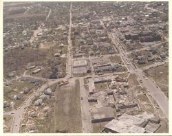 Central High School tornado damage from Super Tornado Outbreak of April 3, 1974. Photo
