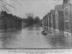 Flooded residential section Photo