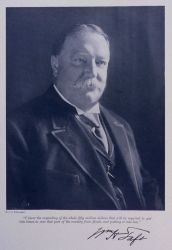 Republican Presidential Candidate (1912) William Howard Taft endorsing building levees on the Mississippi River Photo