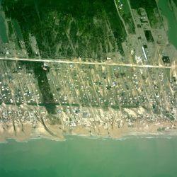 Aerial photograph geo-C25883831 of Texas coast following landfall of Hurricane Ike. Photo