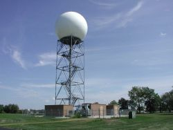 National Weather Service Quad Cities WSFO Doppler Radar installation Photo