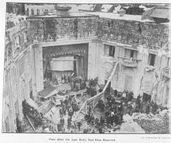View of the interior of the Knickerbocker Theater after the last body had been removed Photo
