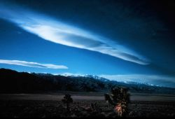 Lenticular cloud over the Inyo Mountains. Photo