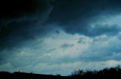 Nimbostratus clouds. Photo