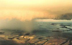 Rain shaft to left - rainfree base of thunderstorm to right Photo