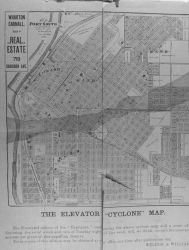 A real estate map showing the trap of the tornado through Ft Image