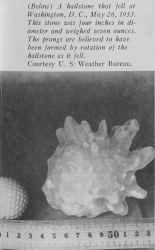 This hailstone was four inches in diameter and weighed seven ounces Photo