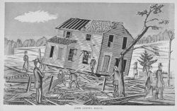 John Ginty's house, thrown off its foundation by the tornado of August 9, 1878 Photo