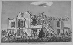 The grade school building at Wallingford following the passage of the tornado of August 9, 1878 Photo