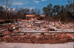 The aftermath of Hurricane Camille. Photo
