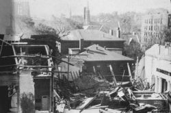 Remains of the steeple of the First Unitarian Church Photo