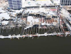 Hard Rock Casino barge completely destroyed. Photo