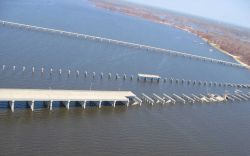 Damage to bridges between Biloxi and Ocean Springs, MS Photo