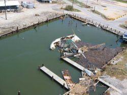 Sunken fishing boat. Photo