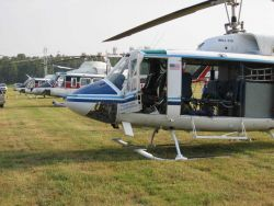 NOAA 61 working with contractor helicopters out of a makeshift heliport north of Baton Rouge. Photo