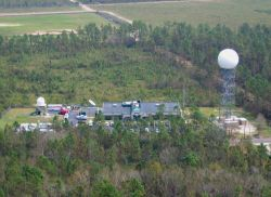 The NOAA National Weather Service forecast office at Slidell just north of Lake Pontchartrain. Photo