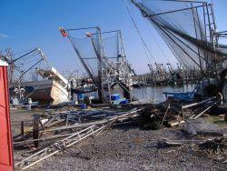 Aftermath of Hurricane Katrina. Image
