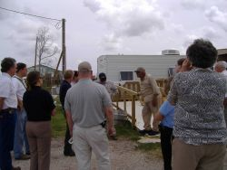 Discussing recovery plan after Hurricane Katrina Photo