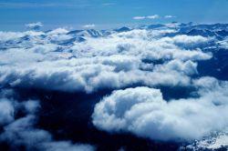 Rocky Mountain snow survey from NOAA aircraft. Photo