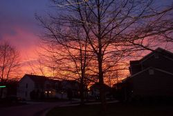 A spectacular late winter sunset. Photo