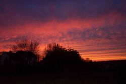 A spectacular late winter sunset. Image