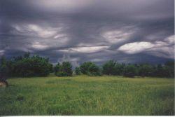 An ominous looking sky. Image
