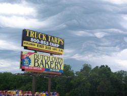 Bizarre clouds over northern Mississippi. Photo