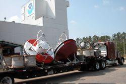 NOAA Tsunami buoys at the National Data Buoy Center prior to deployment. Photo