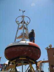 TAO Buoy Array deployment preparations on board the NOAA Ship GORDON GUNTER. Photo