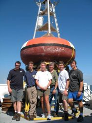 TAO Buoy Array deployment team: Don Ventura (Team Leader), Jeffery Wise, Paula Campbell(Port Meteorological Officer), Alan Lossett, James Rauch, and D Photo