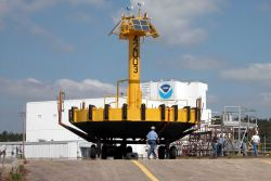 Pre-launch checkout of 10-Meter Buoy. Photo
