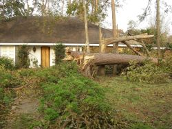 This home belonged to the Lake Charles WSFO IT specialist who had closed on it one week prior to the hurricane Photo