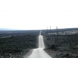 Looking down the Mauna Loa Observatory Road Photo