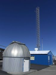The Dobson spectrophotometer housed inside this dome provides daily measurements of the ozone layer. Photo
