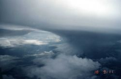 A grand example of a showering anvil as seen from NASA DC-8 Image