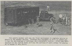 This mobile weather unit was the first development in complete service on wheels by the Weather Service Photo