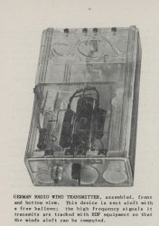 German radio wind transmitter, assembled, front and bottom view Photo