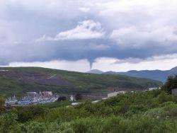 A rare tornado touches down near Sand Point, Alaska. Image