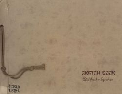 Cover of sketch book of the 20th Weather Squadron in Korea Photo