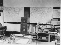The Army Signal Service Meteorological School office at Texas A&M. Photo