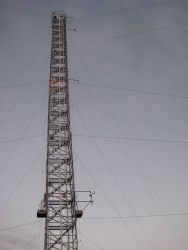 A tower used for above ground atmospheric sampling at the Mauna Loa Observatory Image